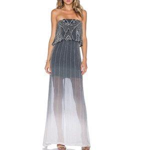 NWT PARKER beaded strapless maxi Marilla dress XS